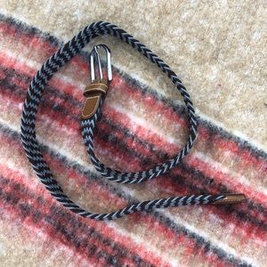 Accessories - Cotton and leather belt